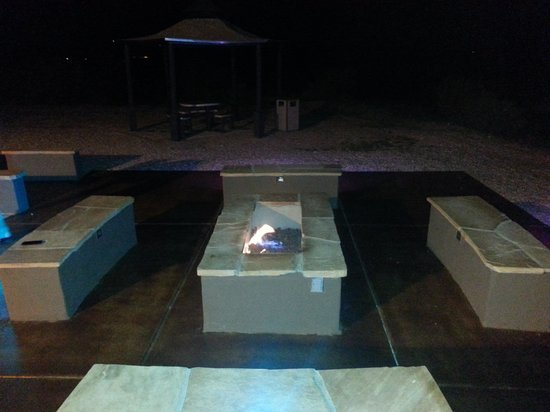 Beautiful firepit at The Tombstone Grand Hotel