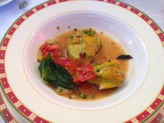 Auberge du Teillon : Stuffed zuccini flowers