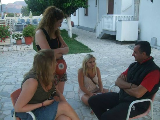 Tassia Studios: Us and Kostas after a late one