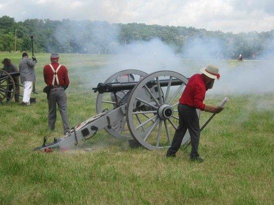 Annual Gettysburg Reenactment: Cannon