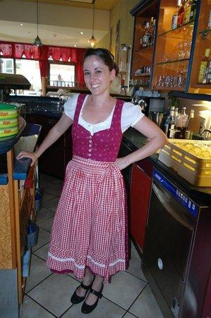 Hotel Alpin: Krisztina in the bar