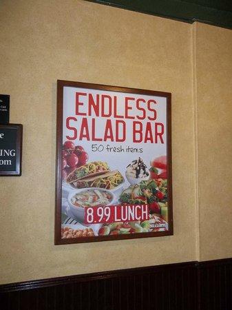 Sizzler: Endless Salad Bar. Hungry ?
