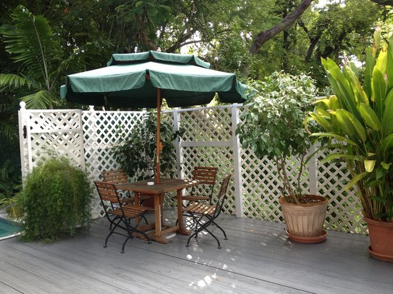 Ambrosia Key West Tropical Lodging: Private Patio