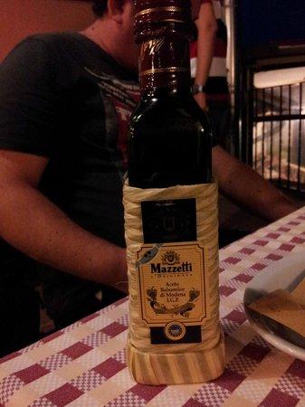 Osteria dell'ignorante: very good balsamic Vinegar