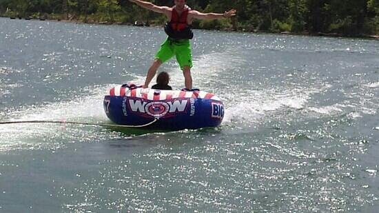 Timbers Resort and Lodge : Tubing near The Timbers Resort!
