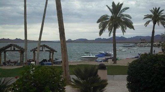The Nautical Beachfront Resort: View from lower beachfront room patio