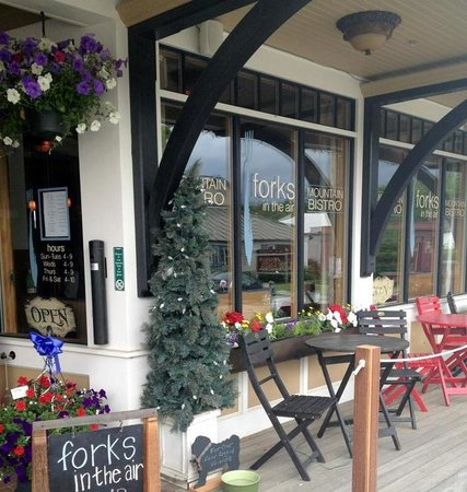 Forks in the Air Mountain Bistro: Lovey indoor and outdoor dining