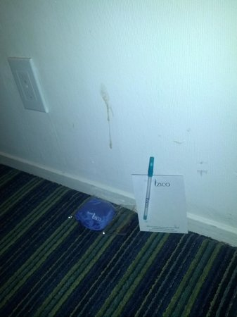 Hotel Zico: Spit / loogie* on the wall; housekeeping didn't clean it after we requested it.