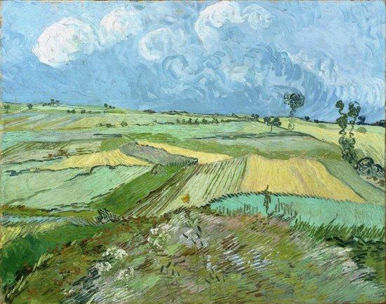 Carnegie Museum of Art : Wheatfields after the Rain, Vincent van Gogh, 1890.
