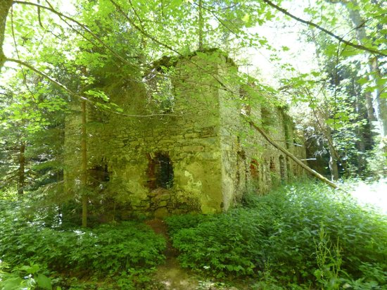 Horsky hotel Popelna : ruins of an old mill on the red hiking track not far from hotel