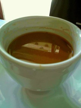 Caffe Ragazzi Restaurant & Lounge : A Disgusting Cup of Coffee - Needed Water To Wash Away The Taste