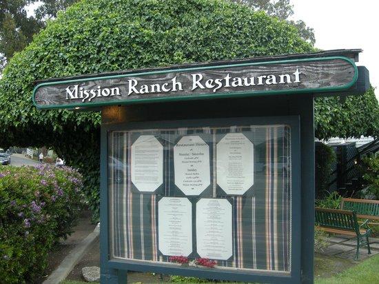 Carmel Mission Ranch Restaurant Menu