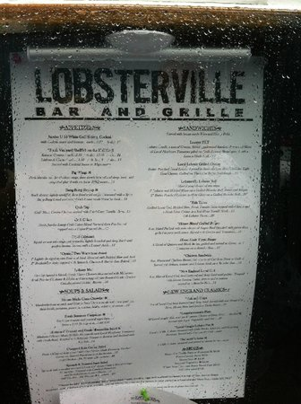 Lobsterville Grill: Menu, happened to be a rainy day