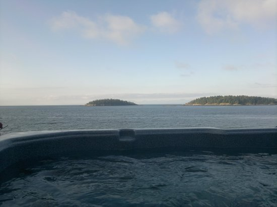 Absolute Heaven Oceanfront Suites: stunning view from the hot tub
