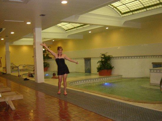 Quapaw Bathhouse: Sandy posing for the camera