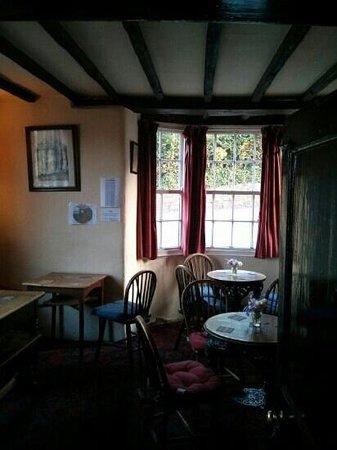 The Bridge Inn: One of the cosy pub rooms
