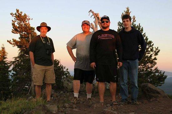 Cultus Lake Resort: Top of Cultus MT at Sunset