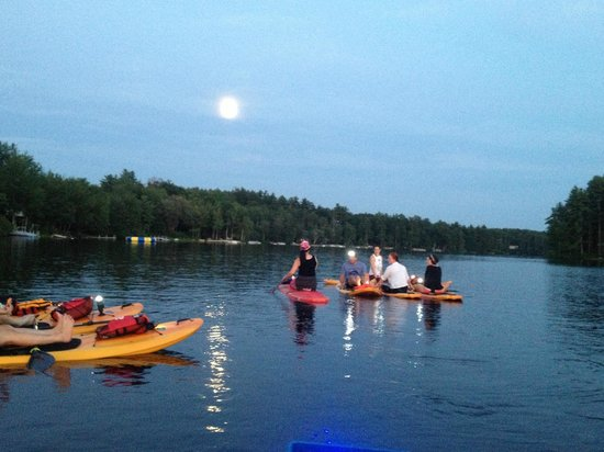Full Moon Paddleboard: moon gazing