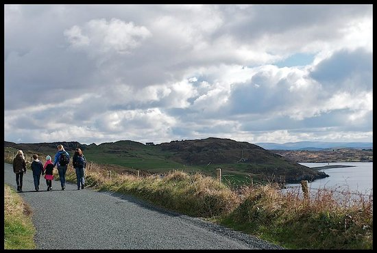 Dolphin Beach House: View as we walked into Clifden