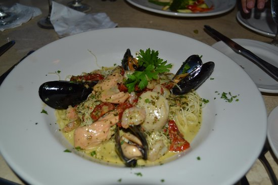 Joseph's by the Sea Restaurant: pâte aux fruits de mer