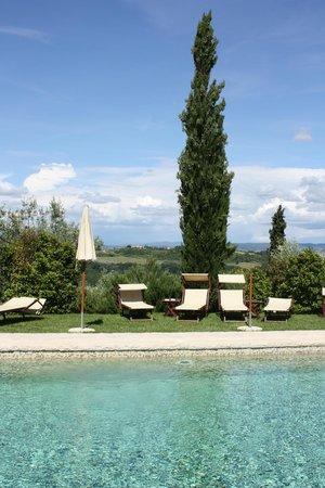 Il Borghetto di San Gimignano Agriturismo: Magnificent swimming pool with splendid views