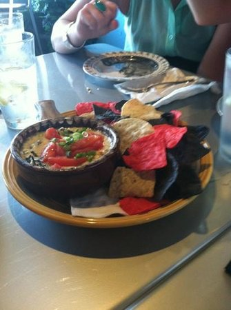 Cafe Mirage: artichoke and spinach dip