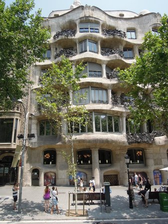 Catalonia Ramblas: from the bus on the open top bus tour