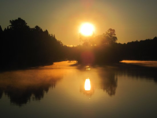 Gray Ghost Camps: sunrise on Moose River
