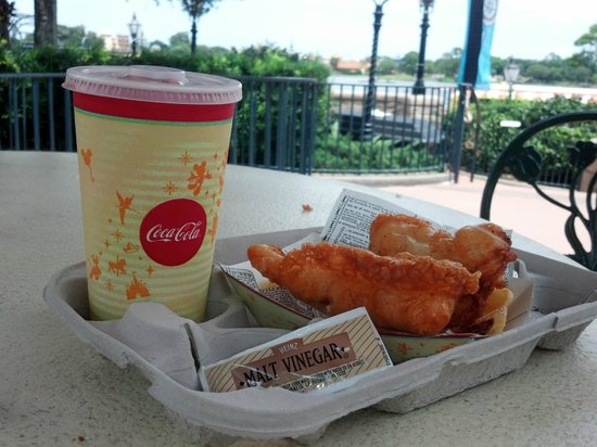 Yorkshire County Fish Shop: $12 lunch at Epcot