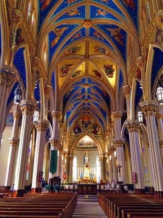 South Bend, IN: Interior of cathedral