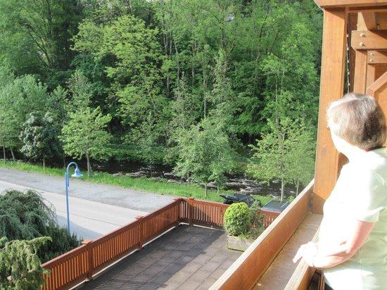 Landidyll Hotel Hirschen: You can hear the river