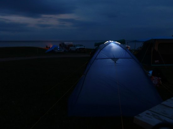 Red Point Provincial Park: Red Point campsite by night