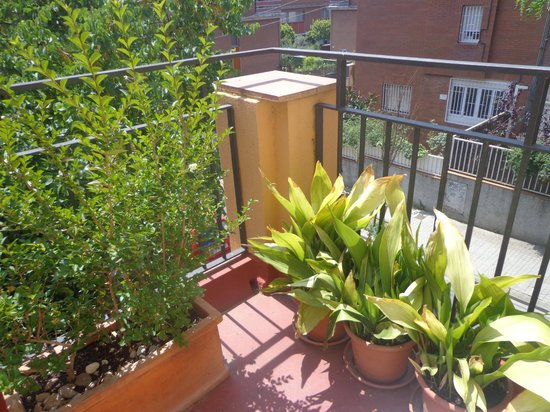 Garden House Hostel Barcelona : view from my room's balcony