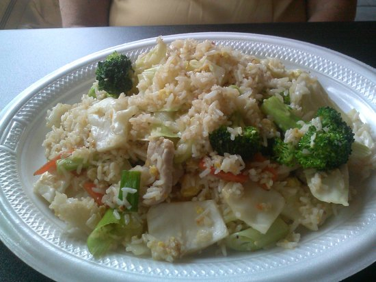 PJ's Corner: PJ Fried Rice (house fried rice with chicken)