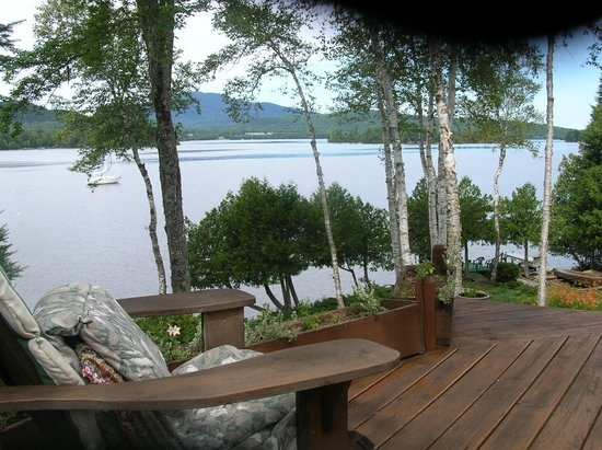 Sundown Bed and Breakfast: view through birches West across Moosehead Lake