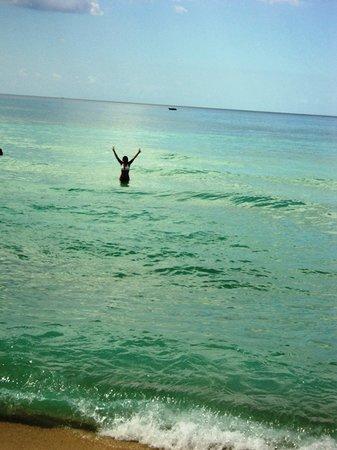 Public beach of Dominicus at Bayahibe : Banho de mar em Dominicus - temperatura super agradável.