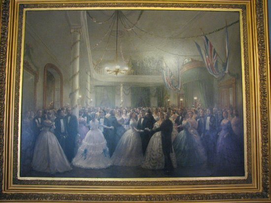 Province House National Historic Site of Canada : Fanciful painting of a ball at confederation conference