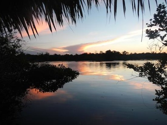 Juma Amazon Lodge: Sunset from our lake front room