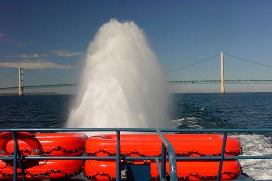 Star Line Mackinac Island Hydro-Jet Ferry: Mackinac Straits Bridge