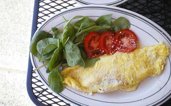 Columbian Cafe: crab, havarti, green onion omlette