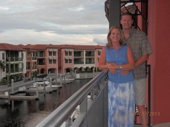 Naples Bay Resort: Third story view of marina