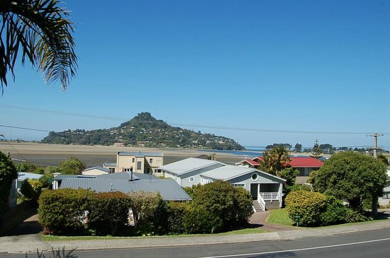 Harbour View Lodge: View from Harbourview Lodge of Mt Paku