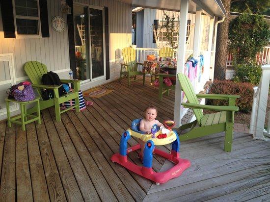 Bethpage Camp-Resort: Huge deck