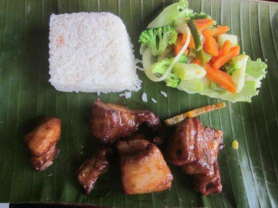 La Carretta : Pork Ribs, Rice and Vegetables.