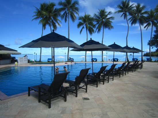 Palau Pacific Resort: Few things better than watching the sunset from the pool