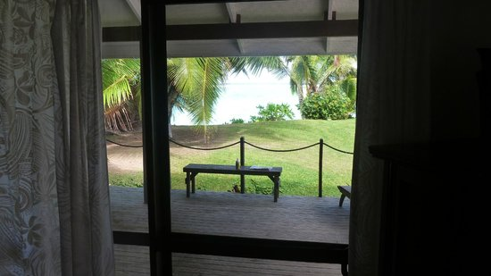 Vai Villas: View from a Villa lounge area