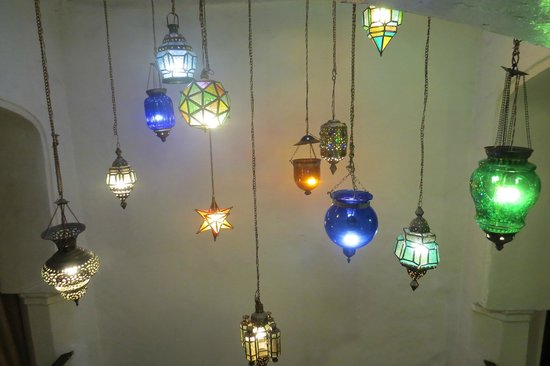 Zanzibar Palace Hotel: Beautiful lights in the Hotel
