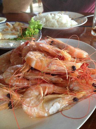 Rimtalay Seafood Restaurant: steamed shirmp