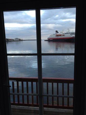 Scandic Svolvaer: Room 107, with Hurtigruta behind
