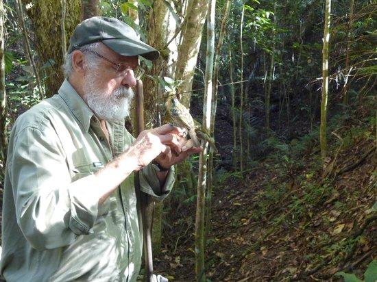Australian Natural History Safari: David feeding the birds